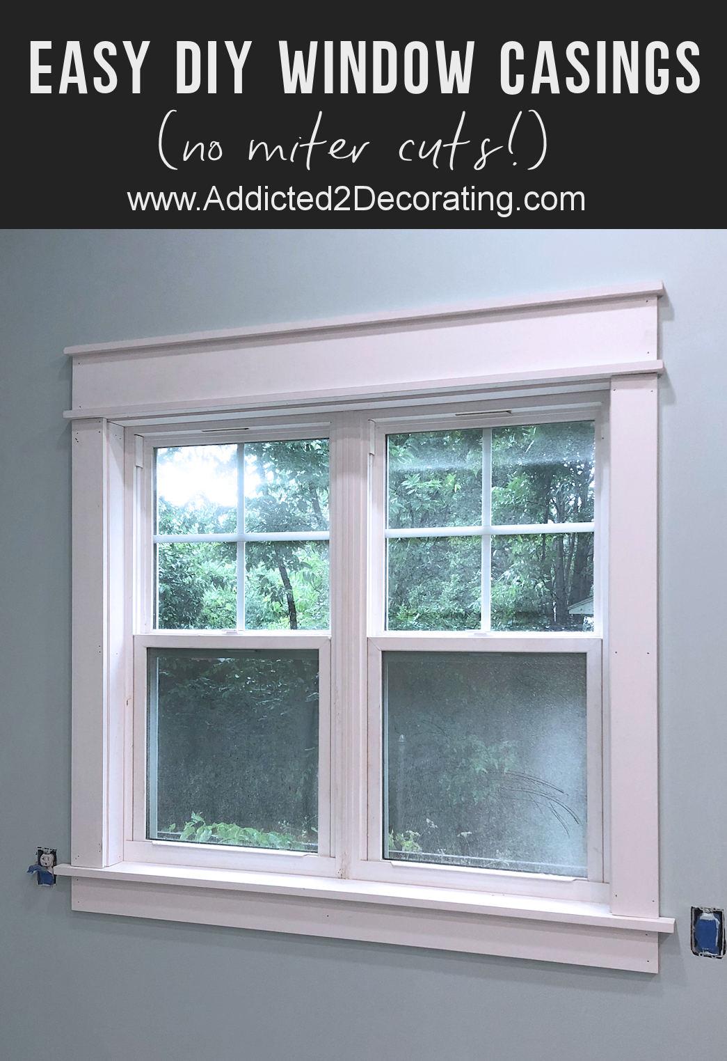 Habillages de fenêtres beaux mais faciles à construire (pas de coupe à onglet!)
