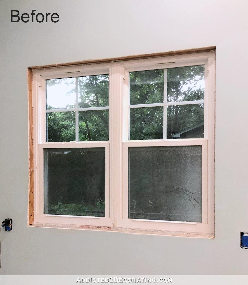 Installation des châssis de fenêtre - fenêtre avant la garniture