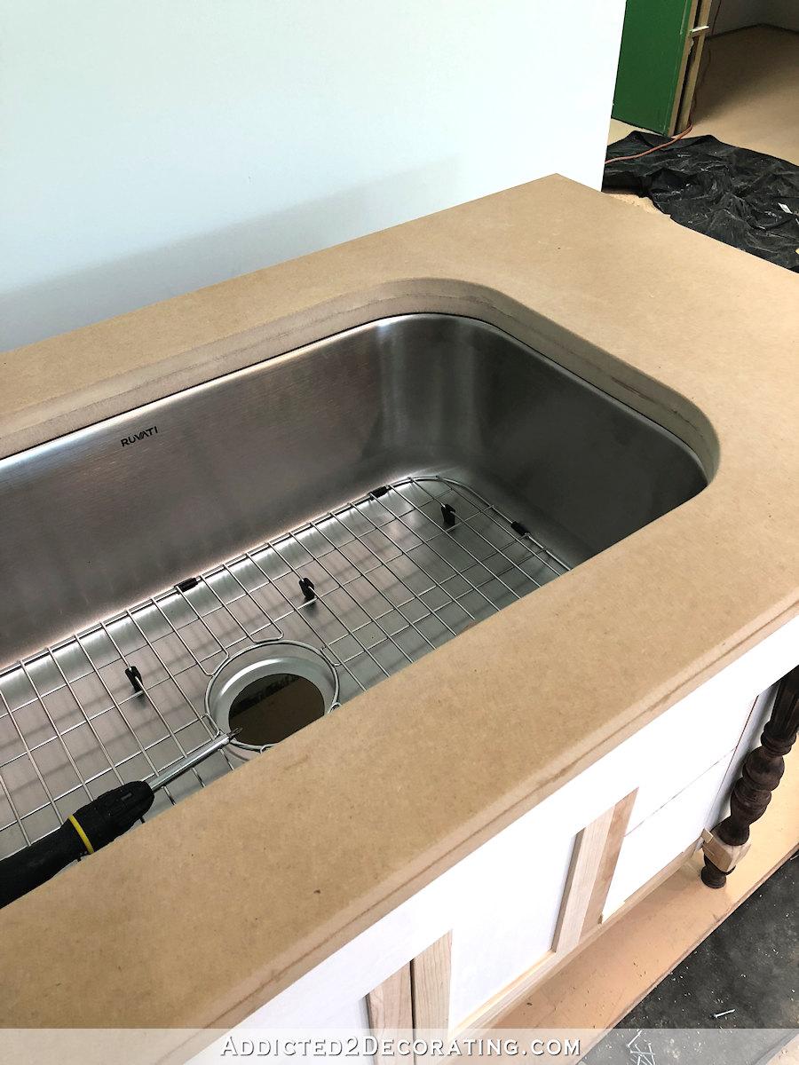 Comptoir de salle de bain en MDF bricolage pour lavabo encastré - 12