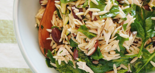 grilled chicken and orzo pasta salad recipe with spinach olives and pine nuts