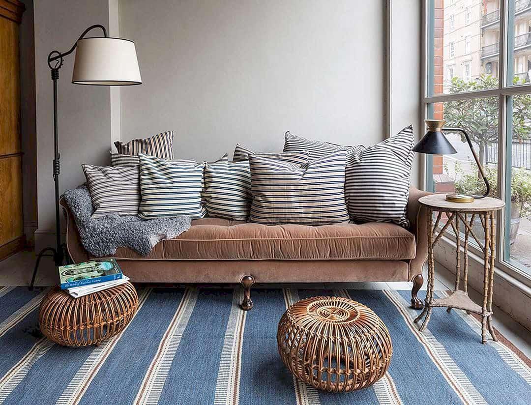 le charme des tapis de kilim suédois modernes du milieu du siècle