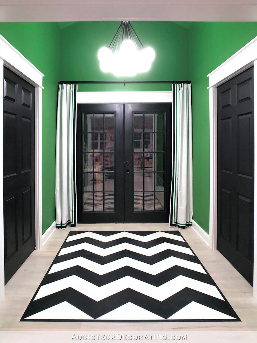 Rideau Porte D Entrée rideaux simples et une entrée arrière pour studio fini - armadia