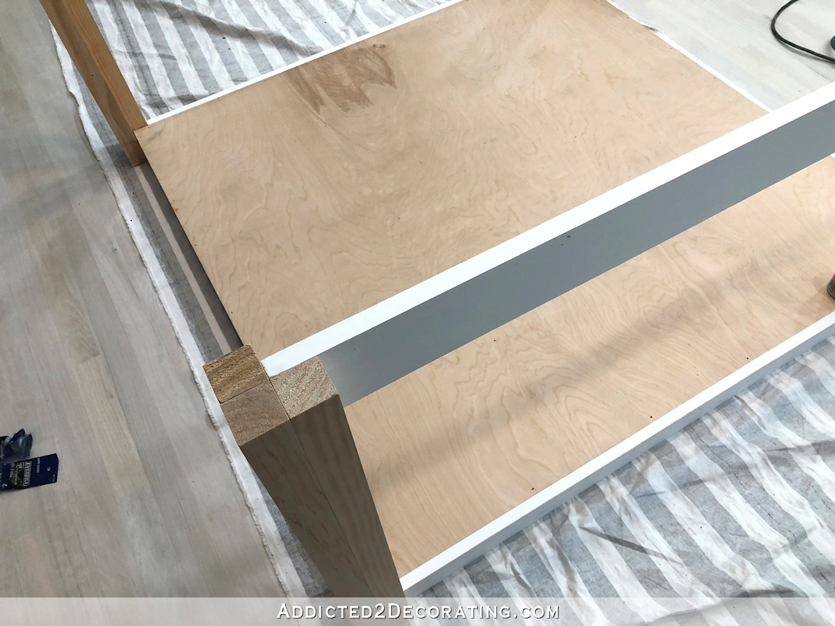 comment construire une grande table craft - 15 - top support