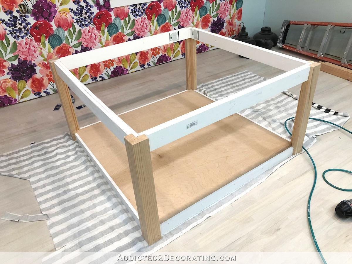 comment construire une grande table craft - 19 - ajouter le reste des supports