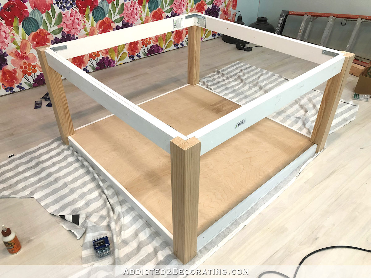 comment construire une grande table craft - 23 - pied de table