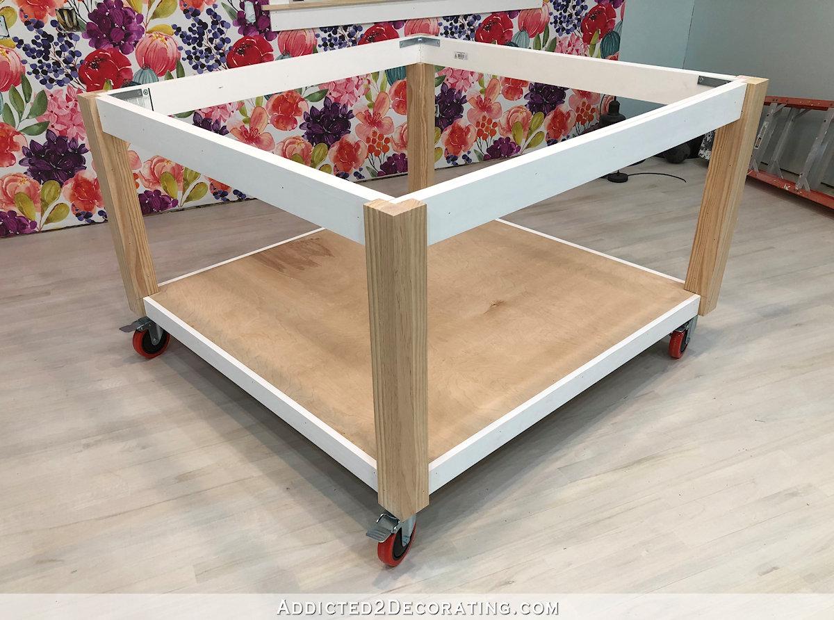 comment construire une grande table craft - 25 - base de la table finie