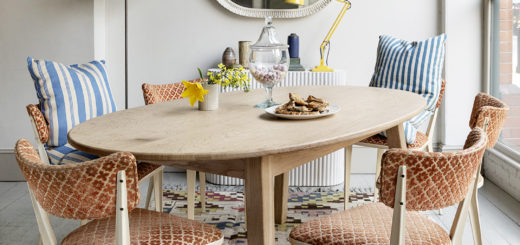 swedish kilim vintage lighting and chairs at howe london