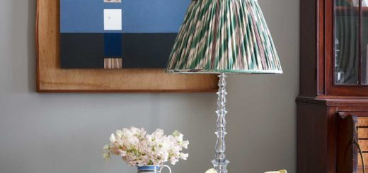 pleated lampshade and pastel style by ben pentreath london