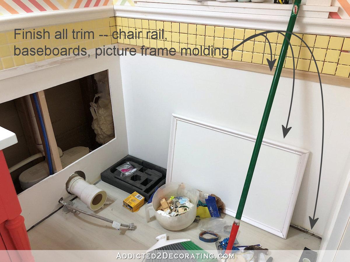 demi-salle de bain - compte à rebours à terminer - la liste des choses à faire - 2