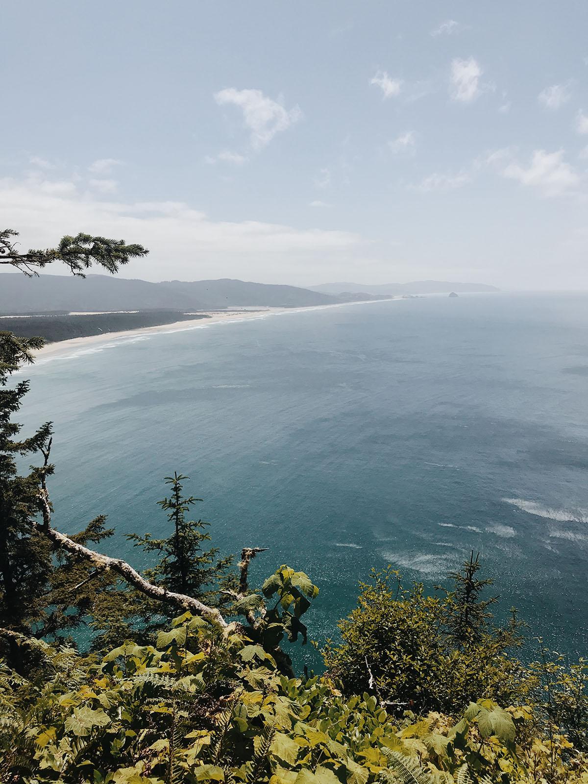randonnée sur la côte de l'Oregon