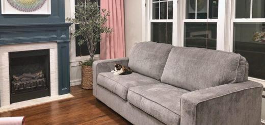 New gray chenille living room sofa
