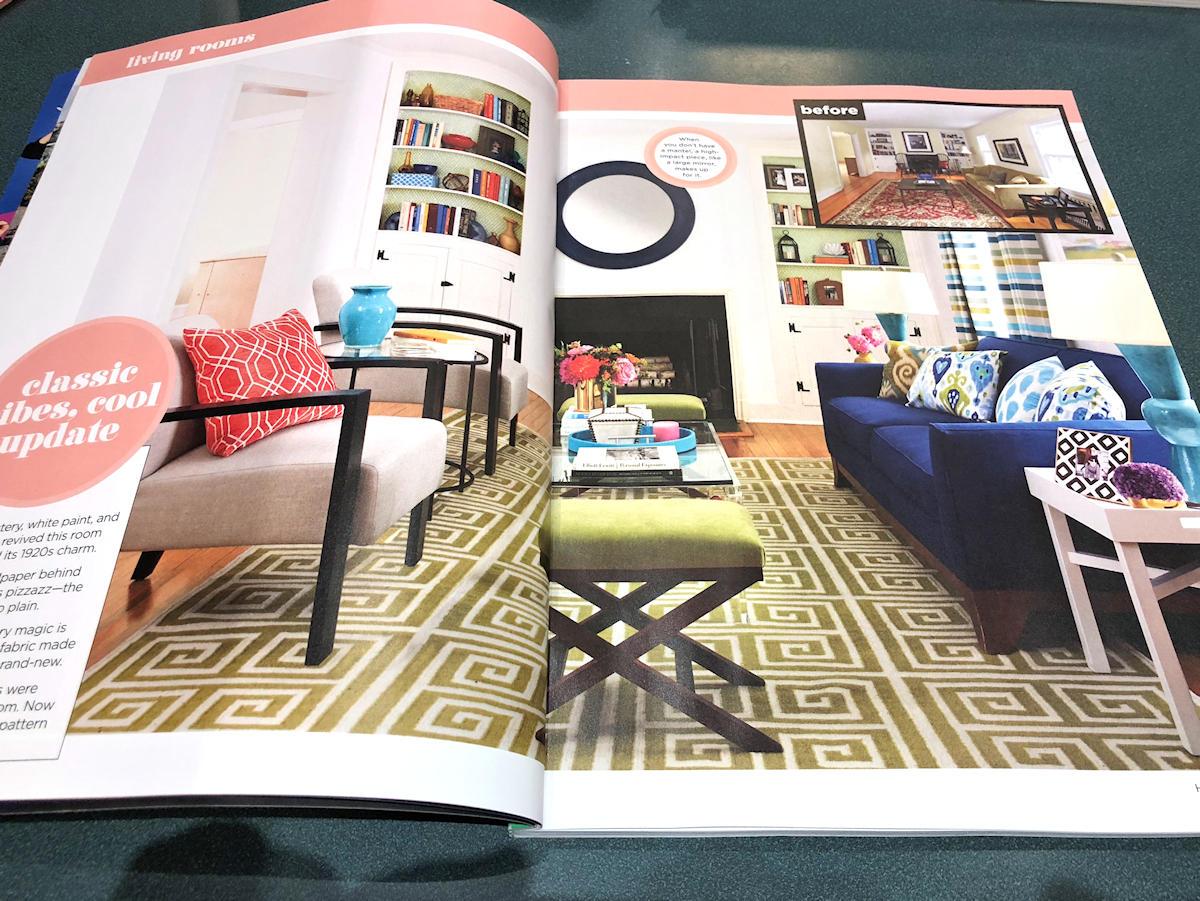 Magazine HGTV avant et après - inspiration pour l'aménagement de mon salon