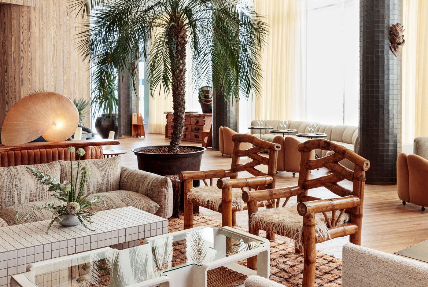 restaurant palma à l'hôtel santa monica | design wanderlust sur coco kelley