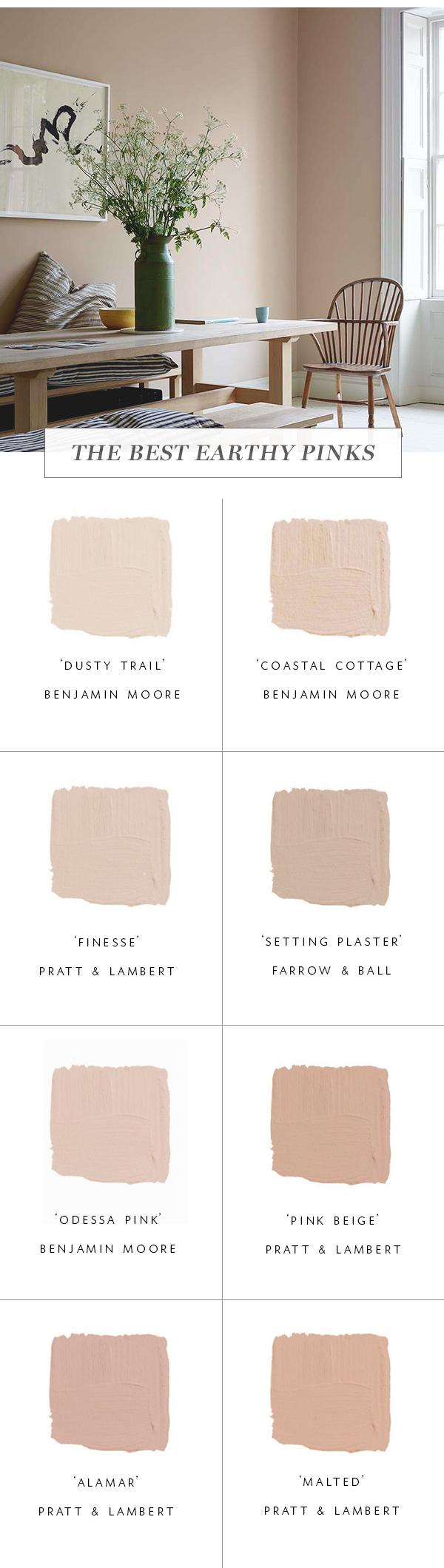 les meilleures couleurs de peinture rose terre