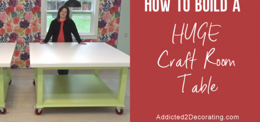 How to build a huge craft table - video
