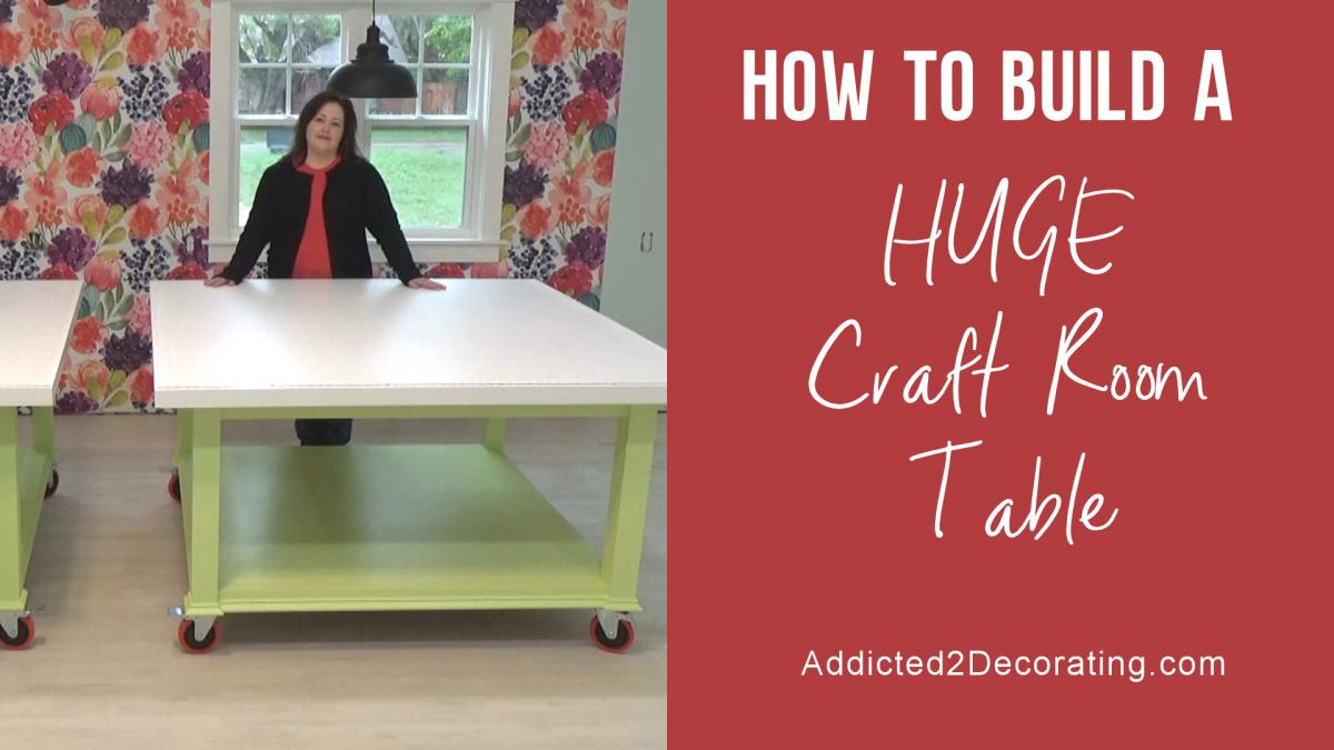 Comment construire une immense table d'artisanat - vidéo