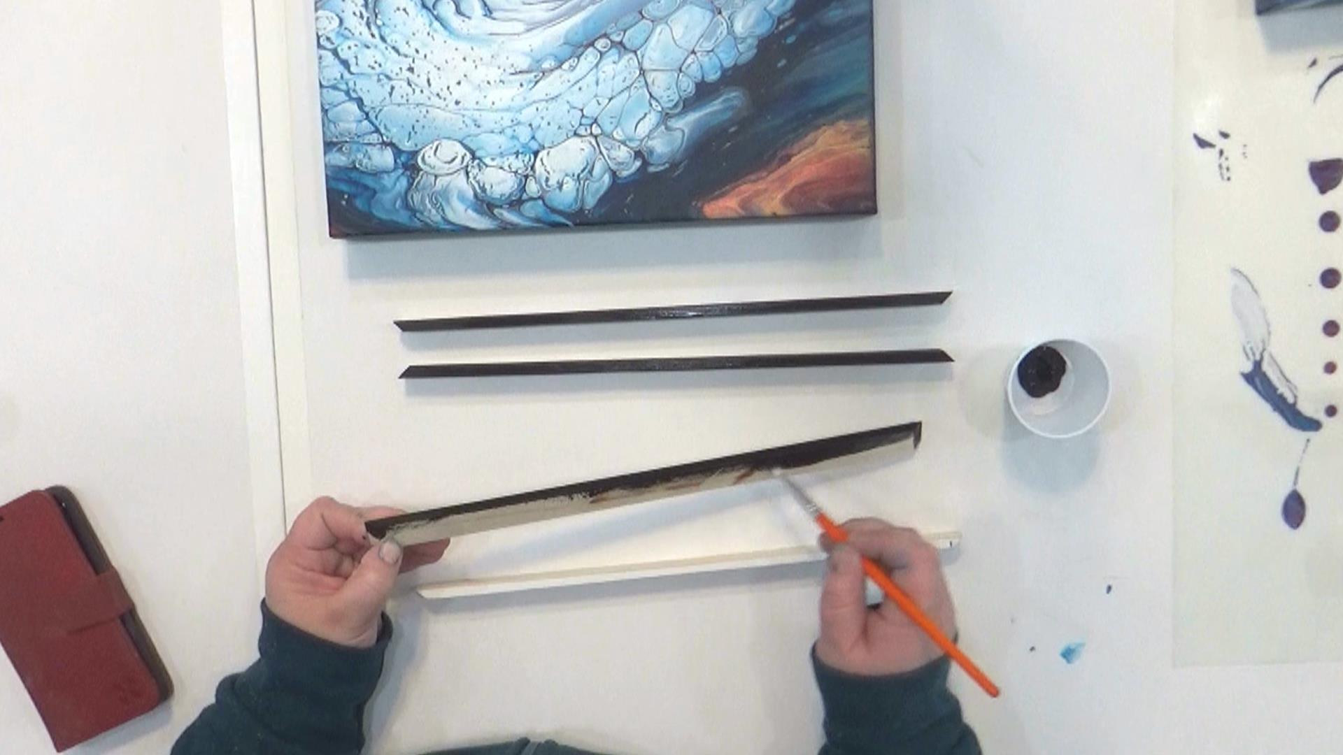 Cloud Pour - Avalanche - Entretoise à onglet sur les coins et peinture noire