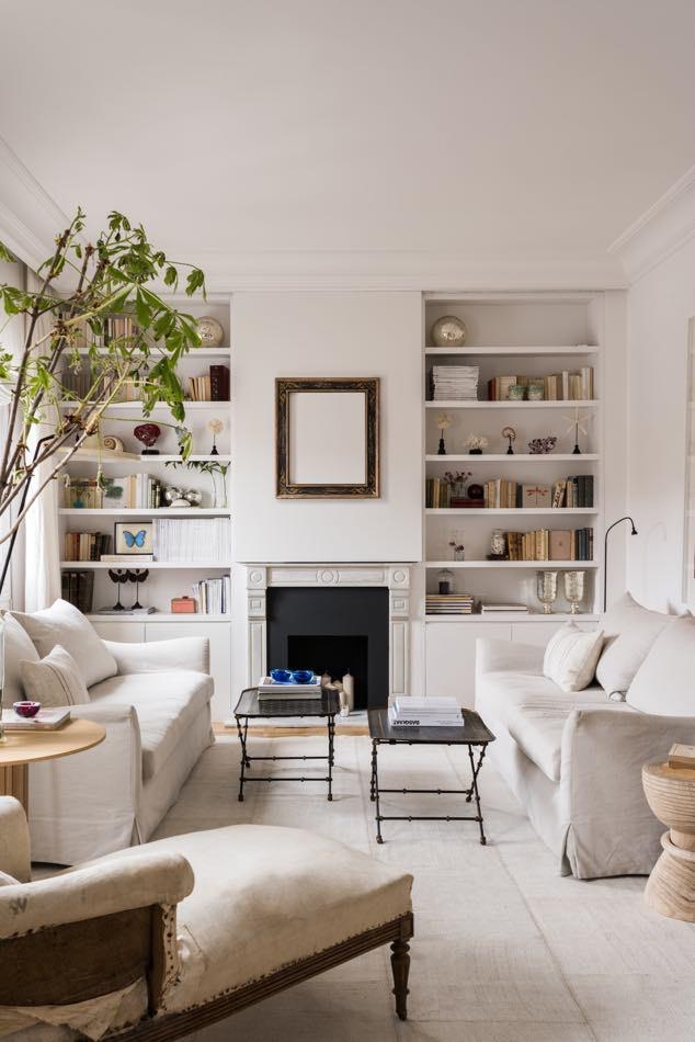 style européen classique dans des tons neutres dans cet appartement de madrid par estudio maria santos