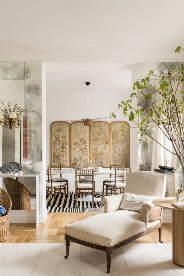 european style dining room with a mix of modern and antique by estudio maria santos