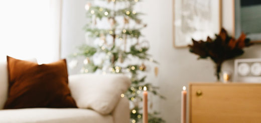 cozy christmas living room decor with crate & barrel