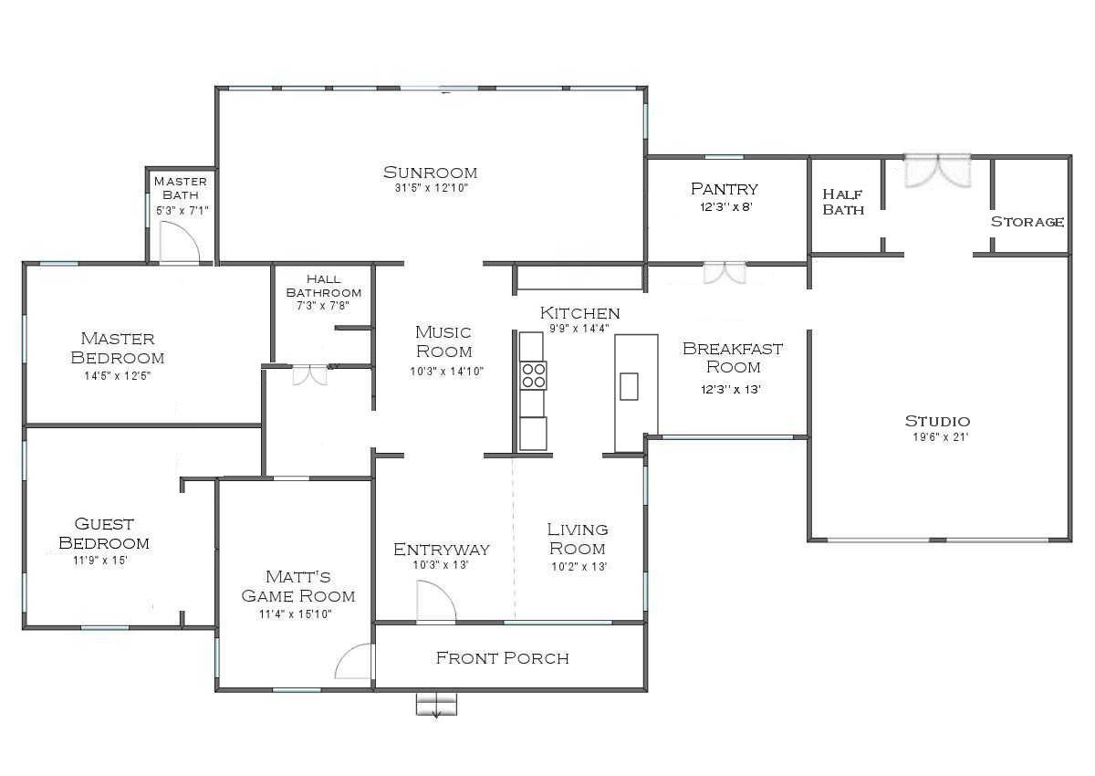 plan d'étage après rénovation