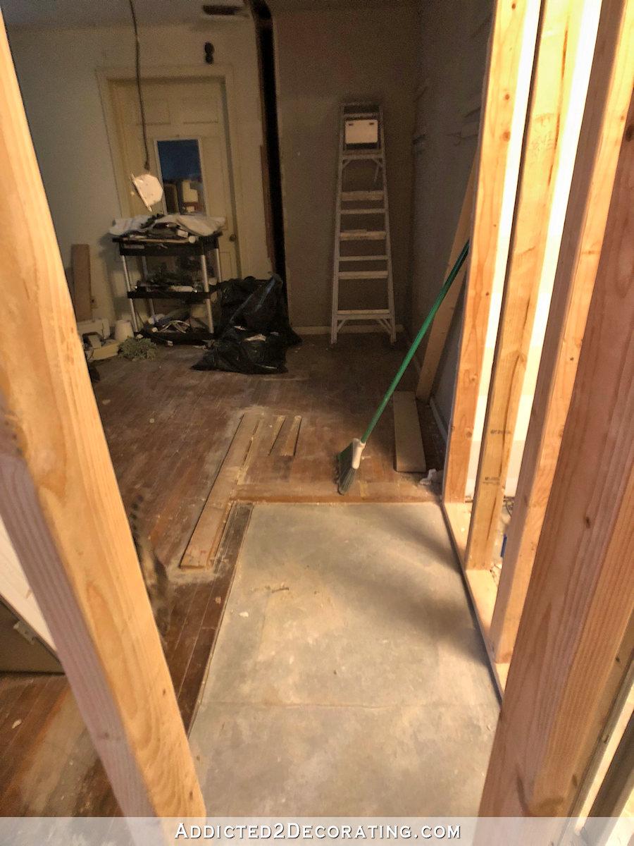 murs de la chambre et placard démontés - 2