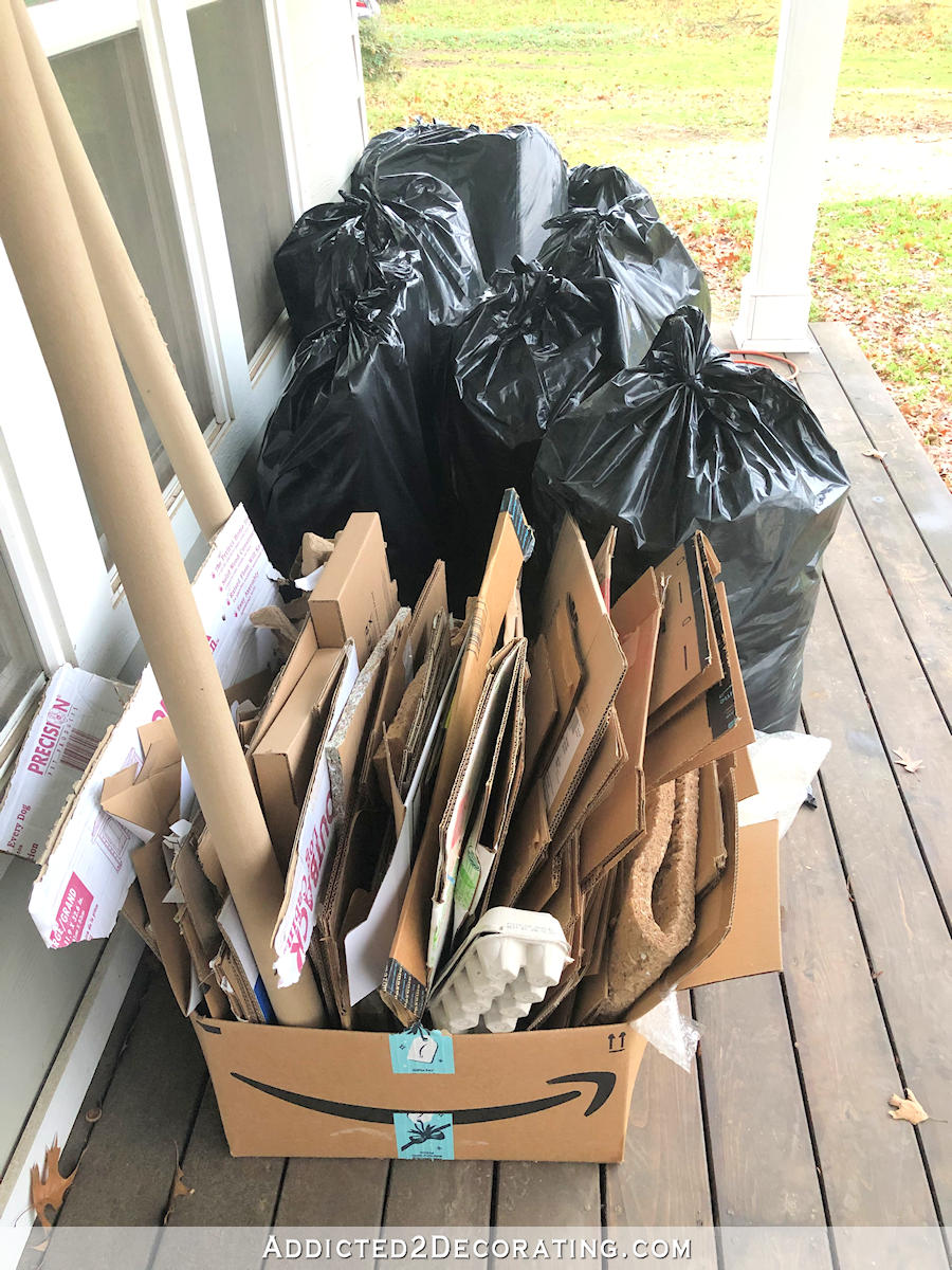 COP semaine 1 - huit sacs, recyclage