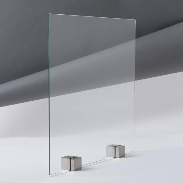 Porte en verre Château Q UV sans bandes en Acier Inoxydable Porte en Verre saisir Shine